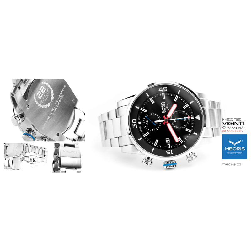 Sportovní hodinky Meoris Viginti SS Chronograf 22TH Anniversary - Onyx f1453e0e03